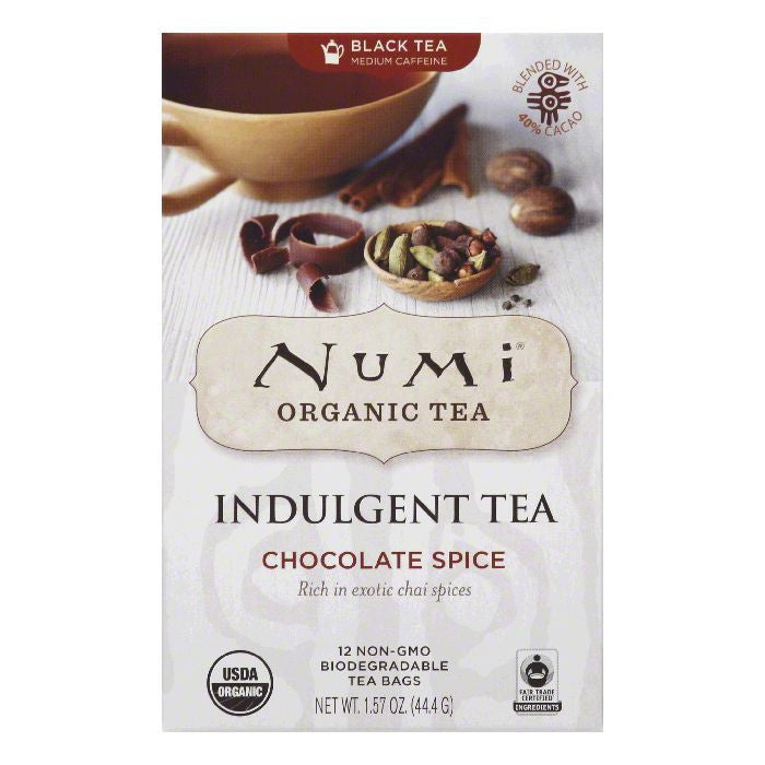 Numi Tea Bags Chocolate Spice Organic Black Tea, 12 ea (Pack of 6)