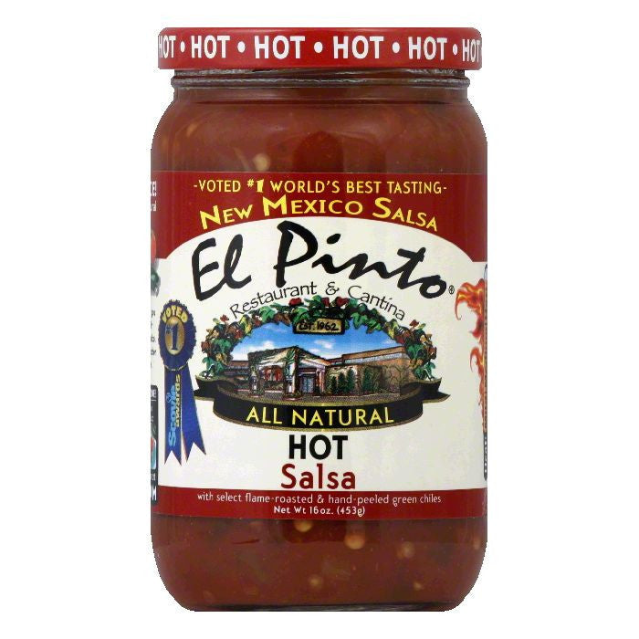 El Pinto Salsa Hot, 16 OZ (Pack of 6)