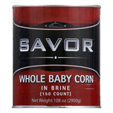 Savor in Brine Whole Baby Corn, 7.33 LB (Pack of 6)