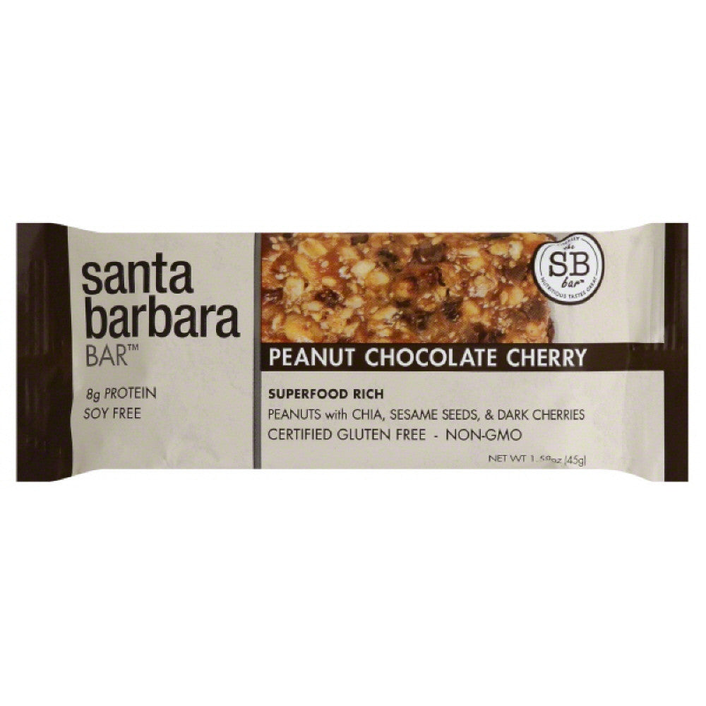 Santa Barbara Bar Peanut Chocolate Cherry Nutrition Bar, 1.58 Oz (Pack of 12)