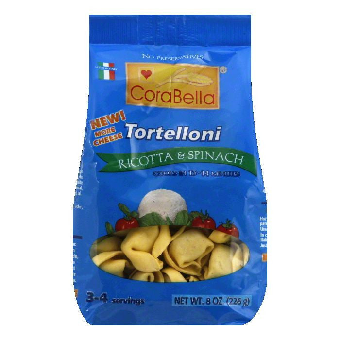 CoraBella Ricotta & Spinach Tortellini, 8 Oz (Pack of 12)