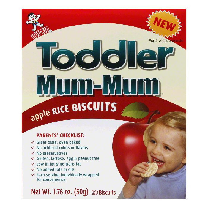 Hot Kid Mum Mums Apple Todler, 1.76 OZ (Pack of 6)