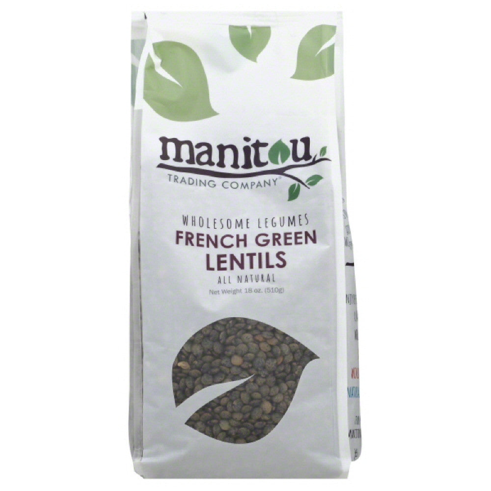 Manitou Trading French Green Lentils, 18 Oz (Pack of 6)