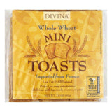 Divina Tiny Toast Whole Wheat, 2.8 OZ (Pack of 24)