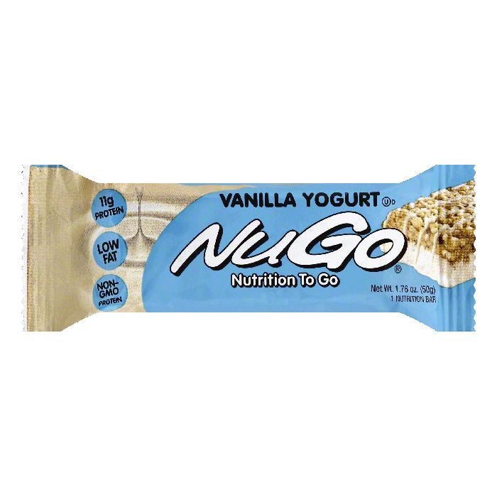 NuGo Vanilla Yogurt Nutrition Bar, 1.76 OZ (Pack of 15)
