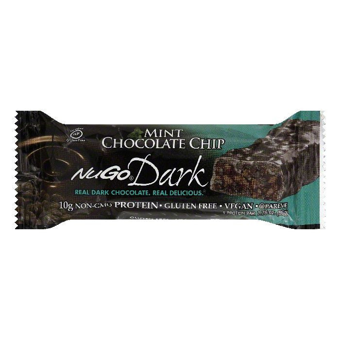 Nugo Dark Mint Chocolate Chip Bar, 1.76 OZ (Pack of 12)
