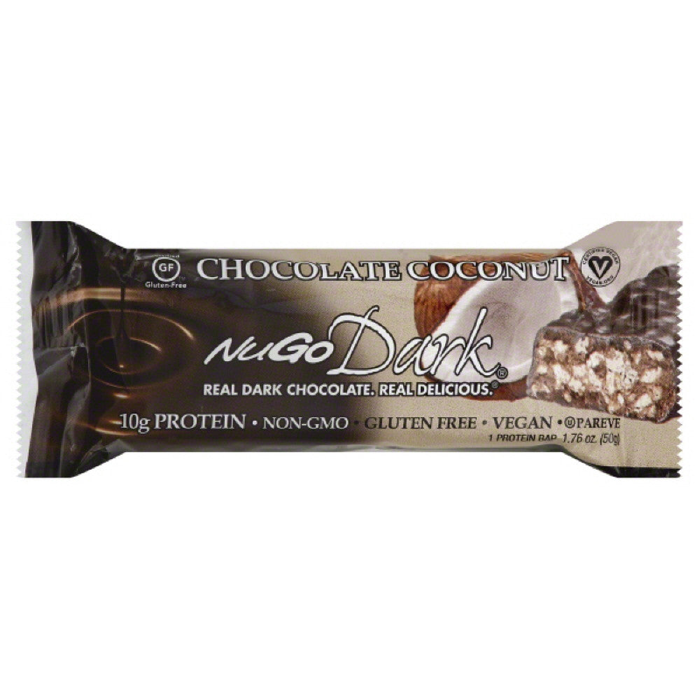 NuGo Chocolate Coconut Protein Bar, 1.76 Oz (Pack of 12)