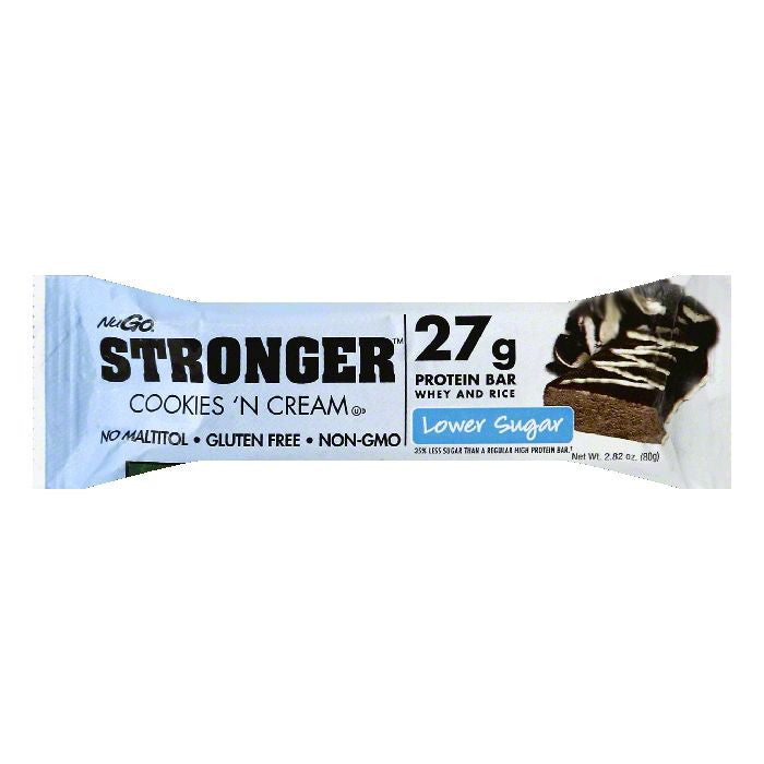NuGo Cookies 'N Cream Protein Bar, 2.82 OZ (Pack of 12)