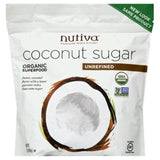 Nutiva Unrefined Coconut Sugar, 16 Oz (Pack of 6)