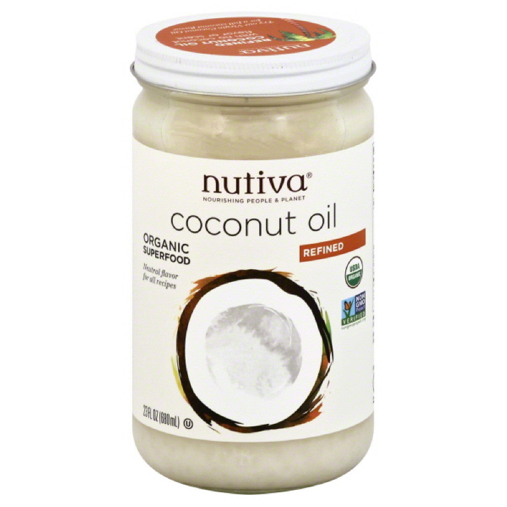 Nutiva Refined Coconut Oil, 23 Oz  ( Pack of  1)