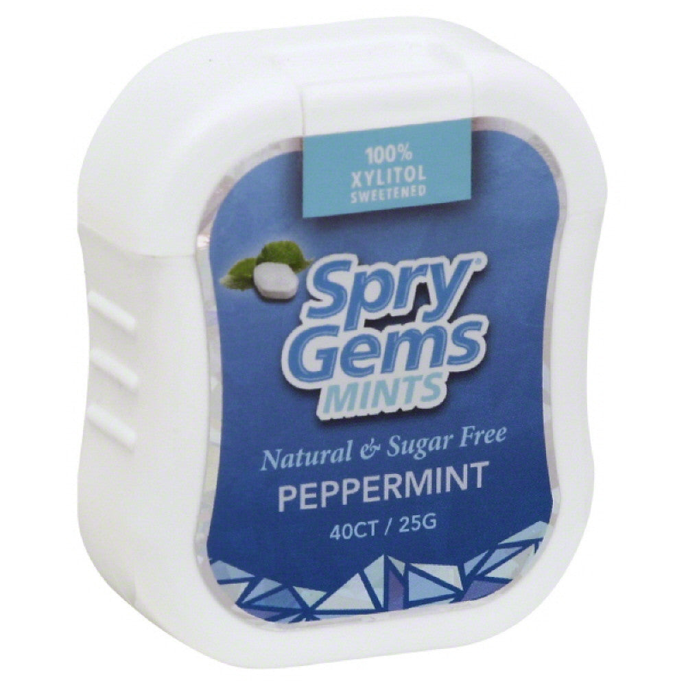 Spry Peppermint Mints, 40 Pc (Pack of 6)