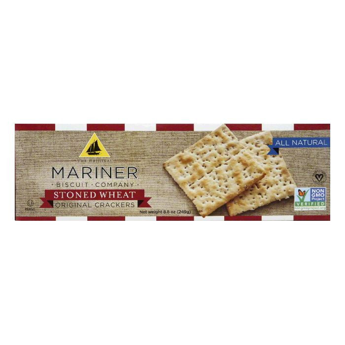 Mariner Stoned Wheat Original Crackers, 8.8 OZ (Pack of 12)