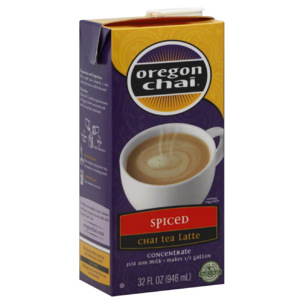Oregon Chai Spiced Concentrate Chai Tea Latte, 32 Fo (Pack of 6)