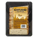 Chicago Flats Rye Gourmet Flatbread, 8 OZ (Pack of 10)