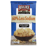 Boulder Canyon Less Sodium Kettle Cooked Potato Chips, 6.5 Oz (Pack of 12)