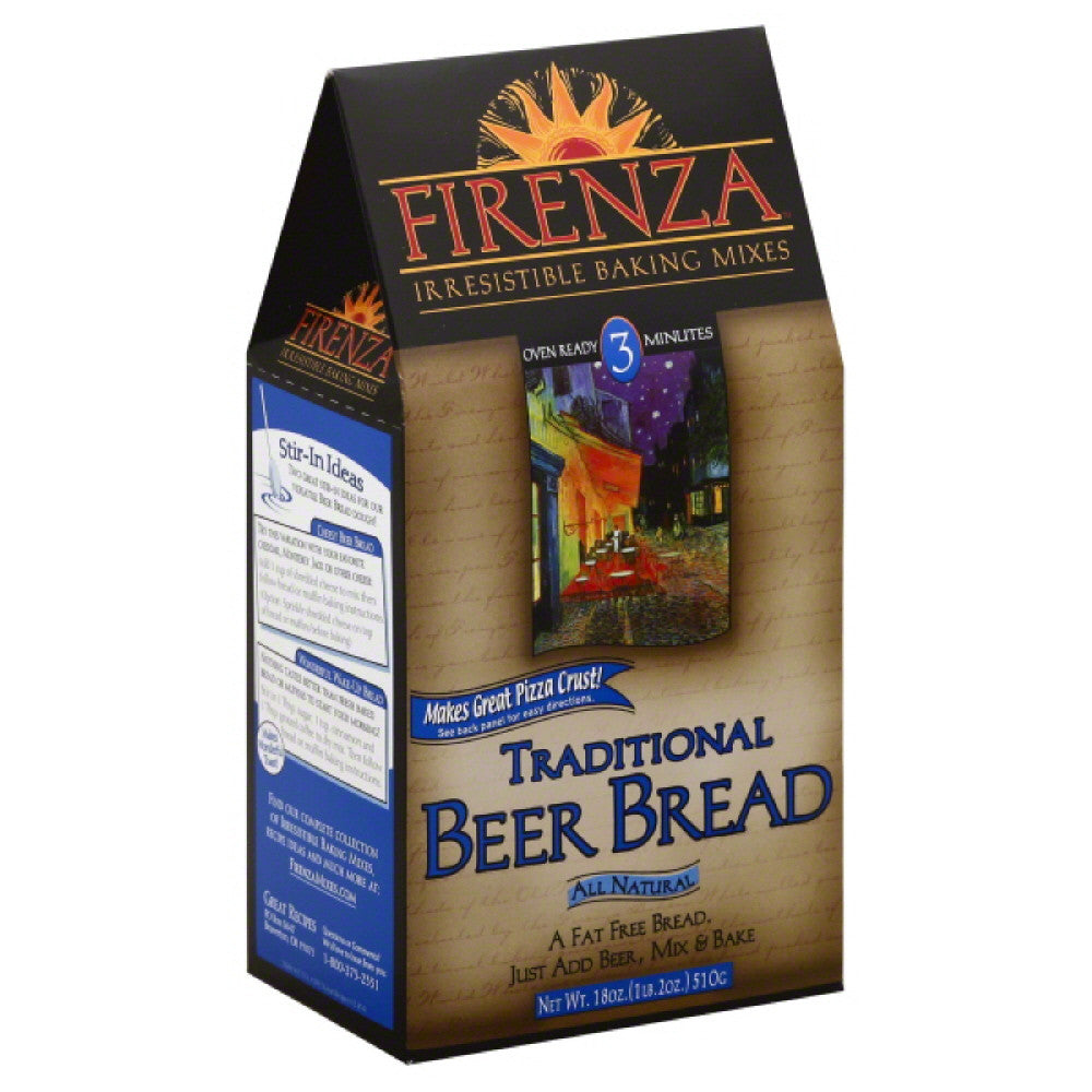 Firenza Traditional Beer Bread, 18 Oz (Pack of 6)