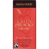 Green & Black's Organic Maya Gold Dark Chocolate 3.5 Oz Bar (Pack of 10)