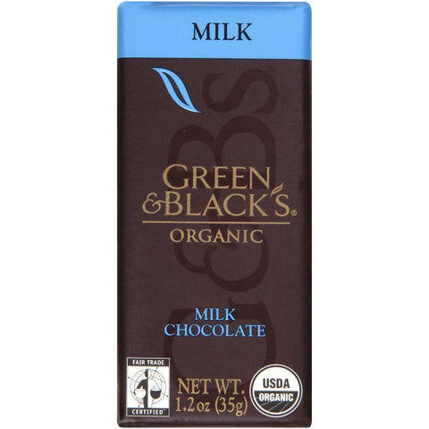 Green & Black's Organic Milk Chocolate 1.2 Oz Bar (Pack of 20)