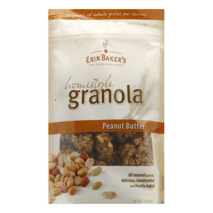 Erin Baker's Homestyle Granola Peanut Butter, 12 OZ (Pack of 6)