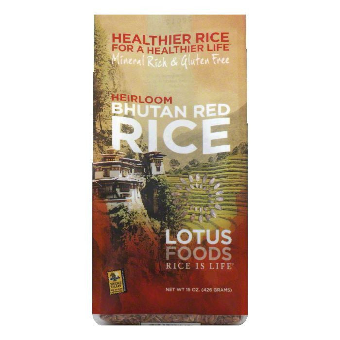 Lotus Foods Bhutanese Red Rice, 15 OZ (Pack of 6)