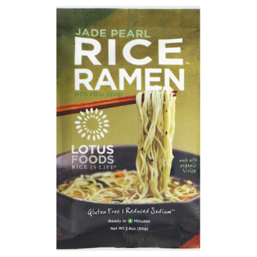 Lotus Foods Jade Pearl with Miso Soup Rice Ramen, 2.8 Oz (Pack of 10)