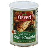 Gefen Italian Herb & Spice Bread Crumbs, 15 Oz (Pack of 12)