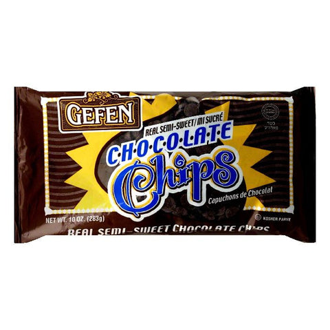Gefen Semi Sweet Real Chocolate Chip, 10 OZ (Pack of 24)