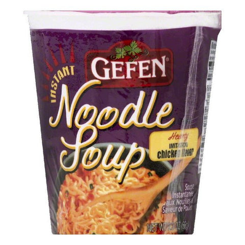 Gefen Hearty Imitation Chicken Flavor Instant Noodle Soup, 2.3 OZ (Pack of 12)