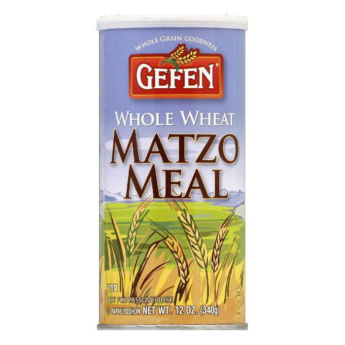 Gefen Whole Wheat Canister Matzo Meal, 12 OZ (Pack of 12)