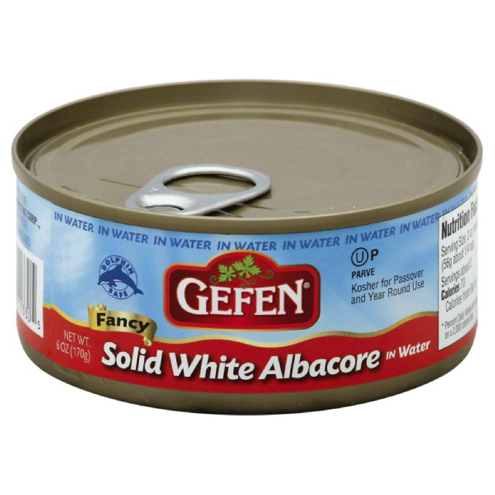 Gefen Solid White Fancy Albacore in Water, 6 Oz (Pack of 48)