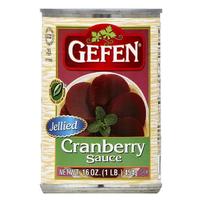Gefen Jellied Cranberry Sauce, 16 OZ (Pack of 24)
