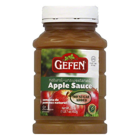 Gefen Unsweetened Apple Sauce, 23 Oz (Pack of 12)