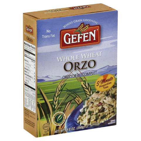 Gefen Orzo Whole Wheat, 8.8 Oz (Pack of 12)