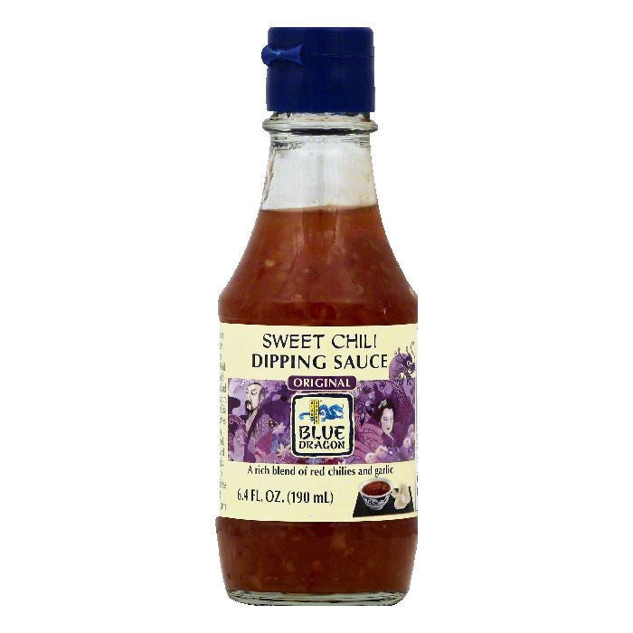Blue Dragon Original Sweet Chili Dipping Sauce, 6.4 OZ (Pack of 12)