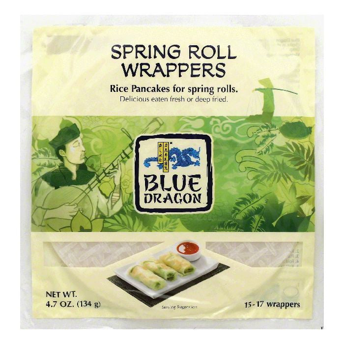Blue Dragon Spring Roll Wrappers, 4.7 OZ (Pack of 12)