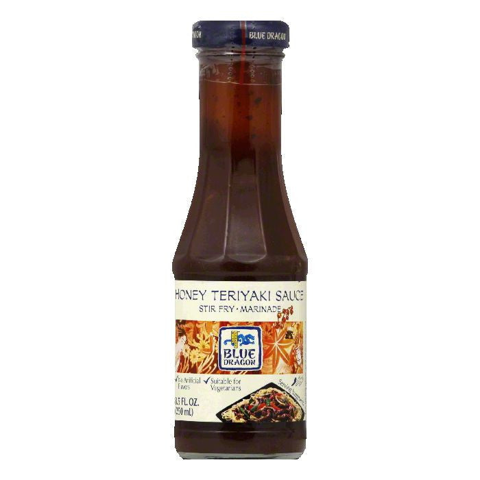 Blue Dragon Honey Teriyaki Sauce Stir Fry/Marinade, 8.5 Oz (Pack of 6)