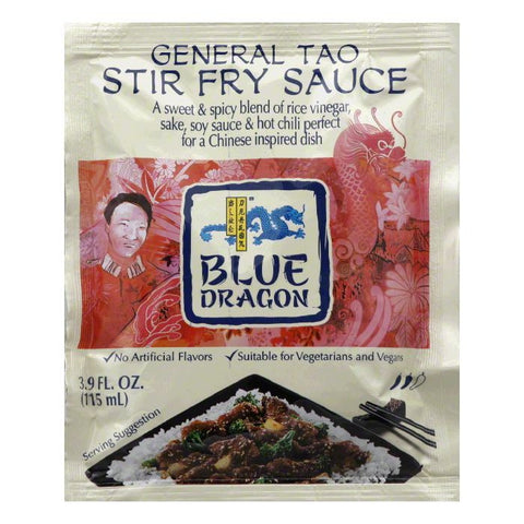 Blue Dragon General Tao Stir Fry Sauce, 3.9 Oz (Pack of 12)