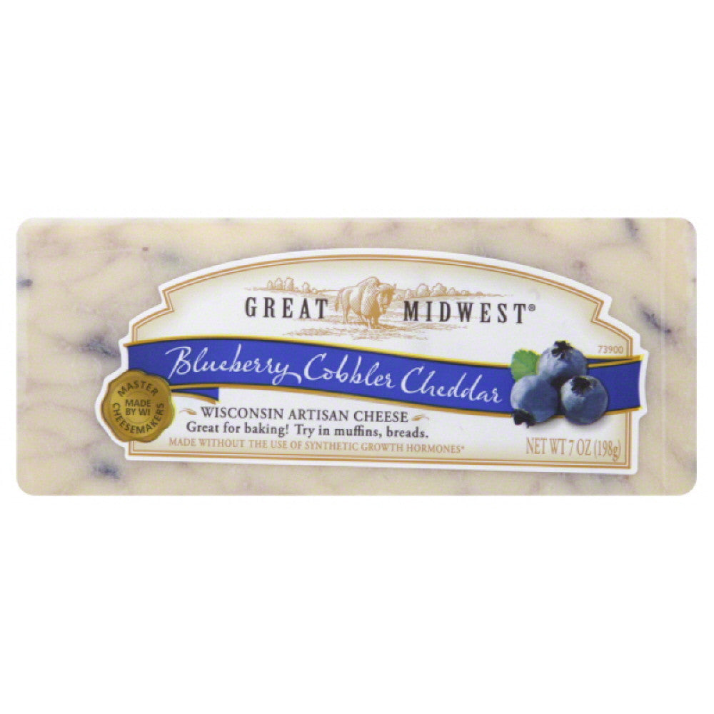 Great Midwest Blueberry Cobbler Cheddar Cheese, 7 Oz (Pack of 12)