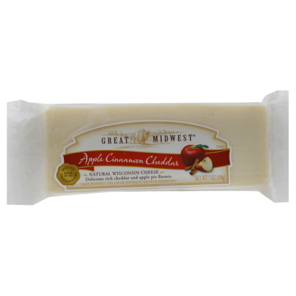 Great Midwest Apple Cinnamon Cheddar Cheese, 7 Oz (Pack of 12)