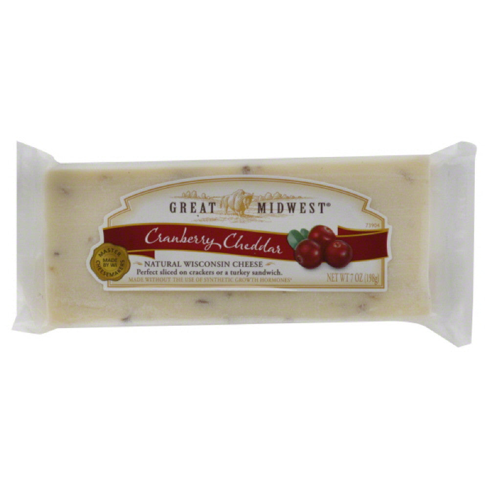 Great Midwest Cranberry Cheddar Cheese, 7 Oz (Pack of 12)