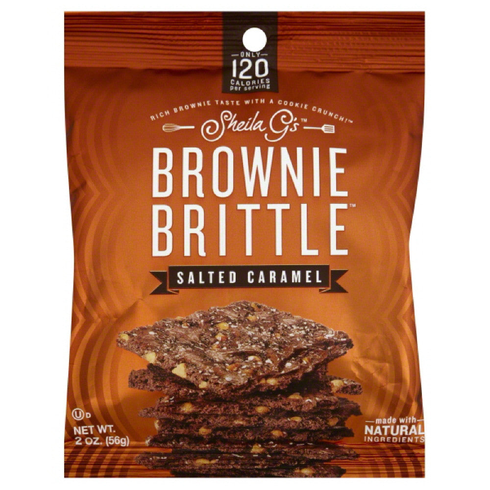 Sheila Gs Salted Caramel Brownie Brittle, 2 Oz (Pack of 24)