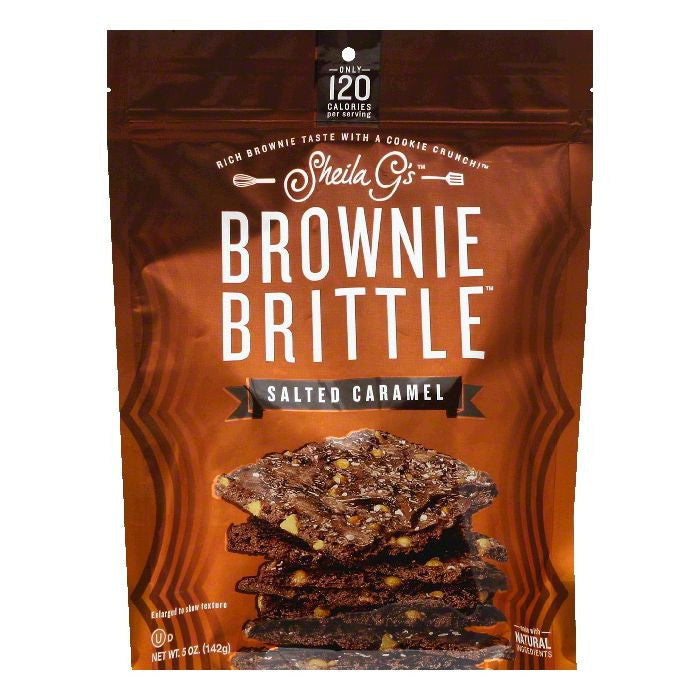 Sheila Gs Salted Caramel Brownie Brittle, 5 OZ (Pack of 12)