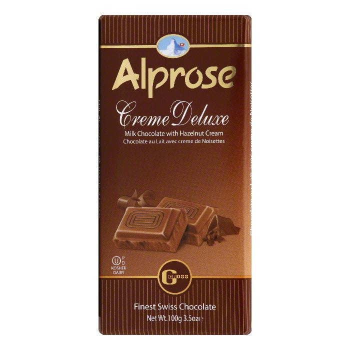 Alprose with Hazelnut Cream Creme Deluxe Milk Chocolate, 3.5 Oz (Pack of 20)