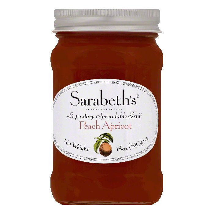 Sarabeths Peach Apricot Spreadable Fruit, 18 OZ (Pack of 6)
