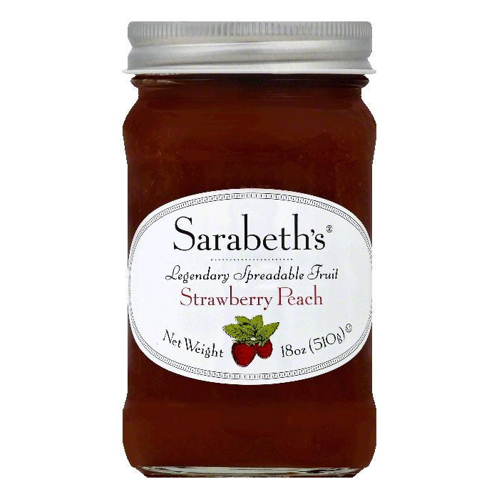 Sarabeths Strawberry Peach Spreadable Fruit, 18 OZ (Pack of 6)