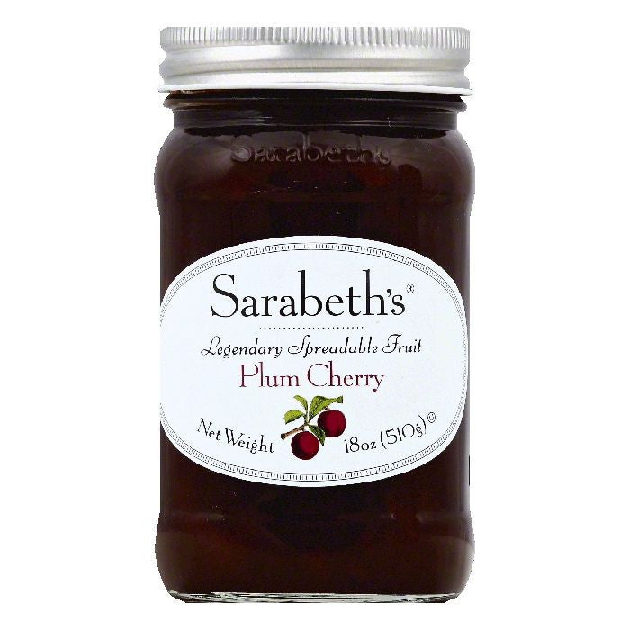 Sarabeths Plum Cherry Spreadable Fruit, 18 OZ (Pack of 6)