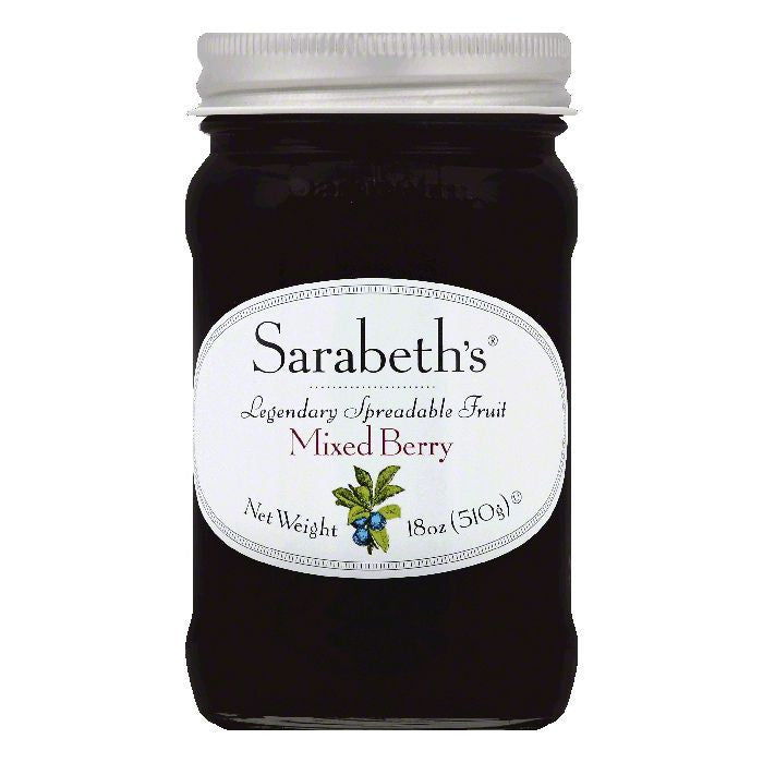 Sarabeths Mixed Berry Spreadable Fruit, 18 OZ (Pack of 6)