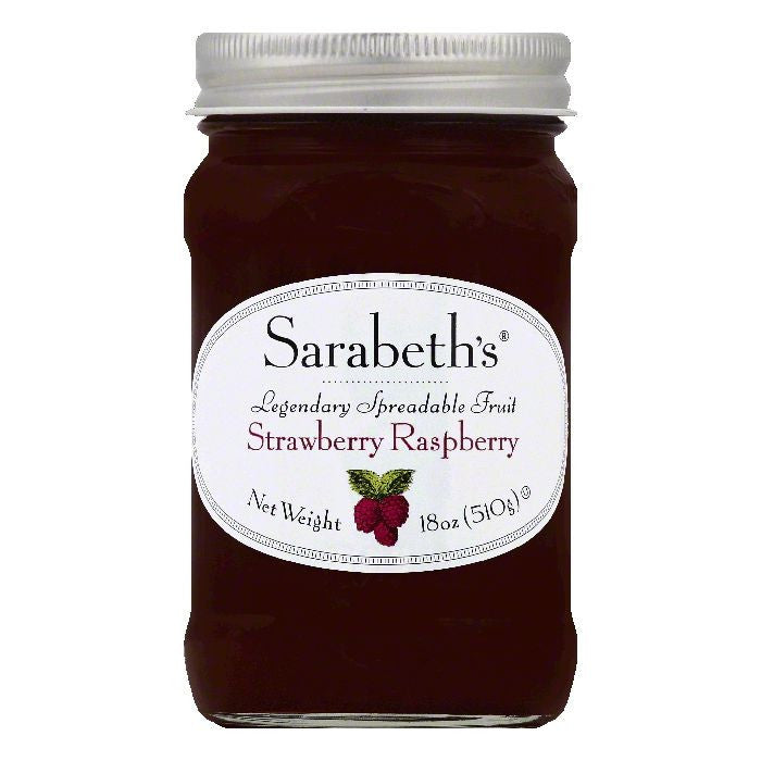 Sarabeths Strawberry Raspberry Spreadable Fruit, 18 OZ (Pack of 6)