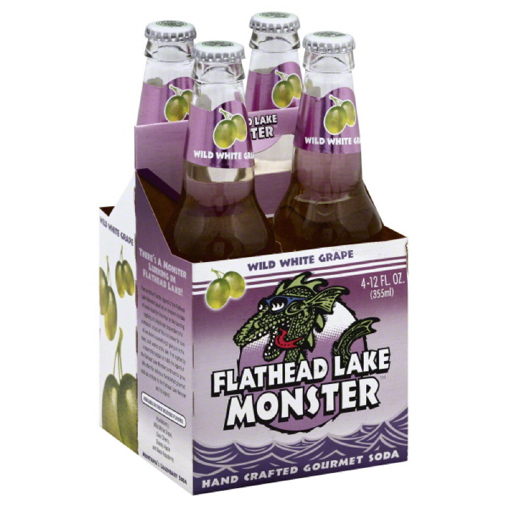 Flathead Lake Wild White Grape Gourmet Soda, 48 Fo (Pack of 6)