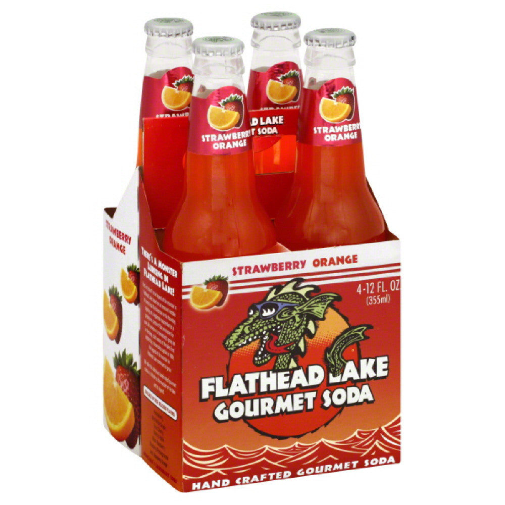 Flathead Lake Strawberry Orange Gourmet Soda, 48 Fo (Pack of 6)